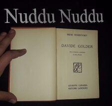 "Irene Nemirovsky ""Davide Golder"" Carabba 1932 prima edizione"