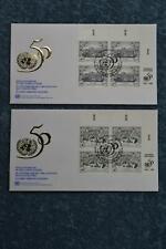 1995 50th Anniversary FDC Set - Vienna Inscription Blocks