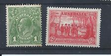 Australia stamps   George V 1d C of A watermark & 1937 Scout stamp MH (Z560)