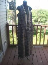 Adrianna Papell evening gown gray mother of the bride xl 16W