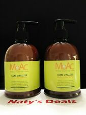 MOAC CURL Lot of 2 VITALIZER LEAVE-IN CONDITIONER OMEGA 3 ARGAN CAMELLIA 9.8 Oz