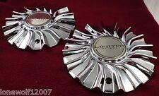 Limited Wheels Chrome Custom Wheel Center Caps Set of 2 # W-102