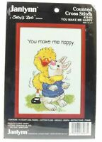 You Make Me Happy counted cross stitch kit janlynn Suzy's Zoo design 38-66 1985