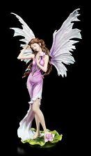 Grand ELFES Figurine - Nymphaea avec nénuphar - Fée Fleur Déco Statuette Rose