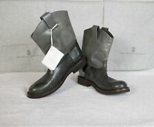 New Brunello Cucinelli Women's Leather Calfskin Green Chelsea Boots Shoes 7
