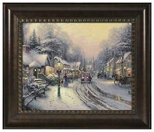 Thomas Kinkade Village Christmas 16 x 20 Brushstroke Vignette (Choice of Frame)