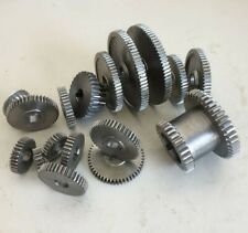 17 pcs set mini lathe gears Metal Cutting Machine gear