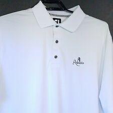 FootJoy FJ Men's White Atlantis Logo Golf Polo Shirt Size L