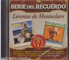SEALED - Lorenzo De Monteclaro CD NEW Serie Del Recuerdo 20 Tracks BRAND NEW