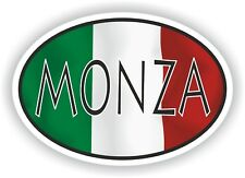 Monza OVAL WITH ITALIAN FLAG STICKER ITALY ITALIA AUTO MOTO TRUCK LAPTOP