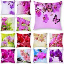 "18"" Fresh flowers Polyester Pillow Case Throw Cushion Cover Home Sofa Car Decor"