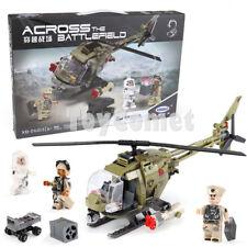 621 pcs Military Battlefield Light Hawk Helicopter Building Blocks Toy Box Set
