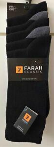 Farah Classic Socks Gentle Grip Tops 5 Pack Size 6‐11