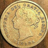 1871H CANADA SILVER 10 CENTS COIN