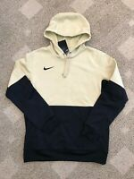Men's Nike Sportswear Pullover Hoodie Sweatshirt Beige Black L Large CI4765-783