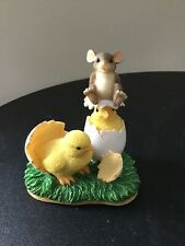 """Charming Tails """"What's Hatchin"""" Mouse Figurine Fitz & Floyd"""