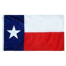 4x6 FT TX TEXAS FLAG ANNIN FLAG FULLY SEWN FMAA CERTIFIED 1 YR WARRANTY US MADE!