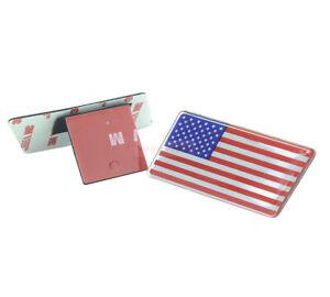 American US USA Flag Chrome Metal Resin Front Emblem Badge For Dodge Ram
