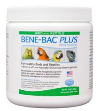 Bene-Bac Plus Probiotic Powder for Birds & Reptiles (10 oz)