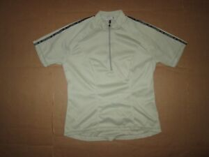 Womens LOUIS GARNEAU 1/4 zip cycling jersey sz M md Med