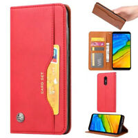 For Xiaomi Redmi 5 5Plus Retro Magnetic Flip PU Leather Wallet Case Stand Cover