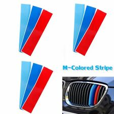 "3 Set 10"" M Color Front Kidney Grille Grill Stripe Sticker Decal For BMW X3 X5"