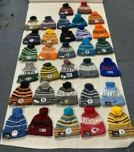New Era NFL SIDELINE Collection Pom Cold Weather Beanie Skull Cap Hat One Size