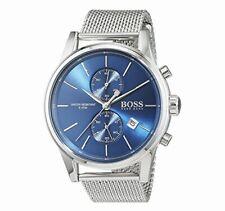 Hugo Boss 1513441 Blue Jet Mesh Chrono Stainless Steel Dial Men's 41mm Watch