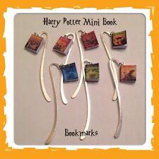 Handmade Harry Potter Inspired Mini Book Charm Bookmark Geeky Gift