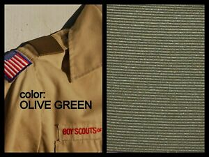 BOY CUB SCOUT Pair Shoulder Loops Epaulet - FOREST GREEN OLIVE Save on qty!