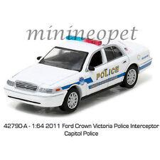 GREENLIGHT 42790 A 2011 FORD VICTORIA INTERCEPTOR CAPITAL WASHINGTON POLICE 1/64