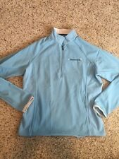 CANNONDALE Bike Cycle Long Sleeve Half Zip Pullover Shirt Womens Medium Blue Kd6