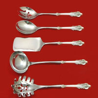 Grande Baroque by Wallace Sterling Silver Hostess Set 5pc Server Custom HHWS
