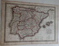 Carte géographique Espagne et Portugal Divisions civiles du Royaume d'Espagne