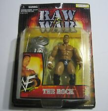 THE ROCK ACTION FIGURE 1999 Raw Is War WWF Wrestling Figure & TRASH Can NEW WWE