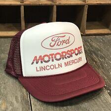 Ford Motorsport Mercury Cougar SVO SVT Trucker Hat Vintage 80s Lincoln Mustang