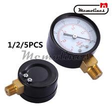 125pcs 0 30inhg 0 1bar 2dial Air Mini Vacuum Pressure Gauge Meter Manometer