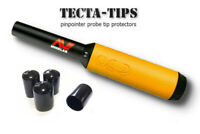 4 TECTA-TIPS tip protectors for Minelab Pro-Find 15 20 35 (Black)