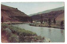 Yakima - Ellensburg Highway Road Canyon River Mountains Washington Postcard Wa