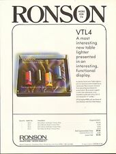 VINTAGE AD SHEET #1876 - RONSON VARATRONIC TABLE LIGHTERS VTL4