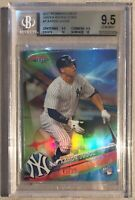 2017 BOWMAN'S BEST Aaron Judge GREEN REFRACTORS #45/99 ROOKIE BGS GEM MINT 9.5