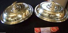 SET OF 2 AMERICAN 19th CENTURY GREEK REVIVAL SILVER WARMING ENTREE TRAY DISHES