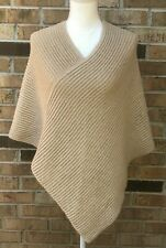 ALICIA ADAMS BABY ALPACA Poncho Cape Sweater Color Camel Tan Light Brown