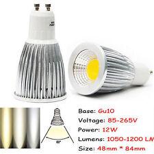 Ultra Bright MR16/GU10/E27/E14 Dimmable 6W/9W/12W LED COB Spot Light Bulbs CREE
