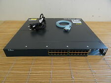 Cisco Catalyst WS-C3560X-24P-S 24x GIGABIT PoE Port Switch 1xPWR used