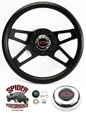 "1969-1994 Camaro steering wheel Red Bowtie 13 1/2"" Black 4 Spoke Grant"