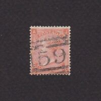GREAT BRITAIN 1865, Sc# 43 Plate 10, CV $150, Wmk Large Garter, Used