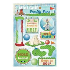 Scrapbooking Crafts Karen Foster Stickers Miniature Mini Golf Family Fun Clubs
