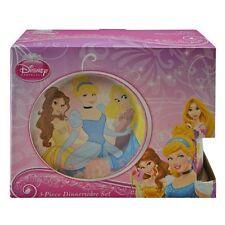 Disney Princess Childrens Porcelain 3 Piece Dinnerware Set - Plate, Bowl, Mug