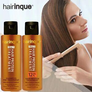 HAIRINQUE 12% Brazilian Keratin Treatment Repair Hair Straightening Shampoo Care